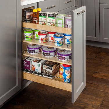 Base Cabinet No Wiggle Pull Out Spice, Kitchen Cabinets Pull Out Spice Rack